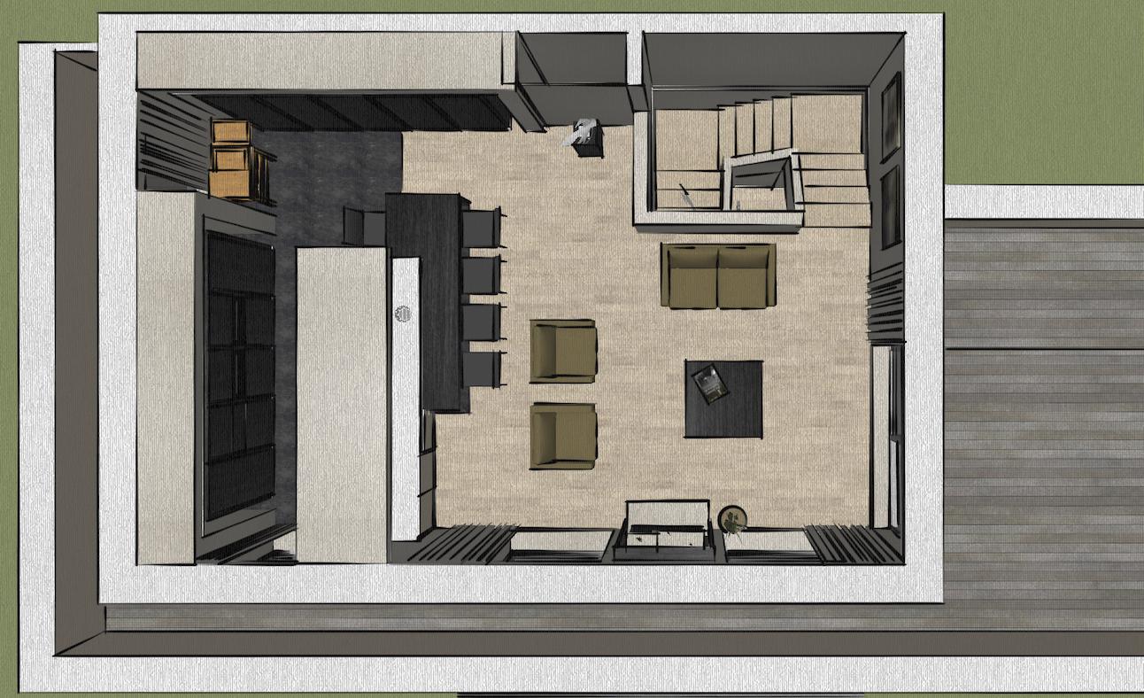 Academia duplex grondplan boven