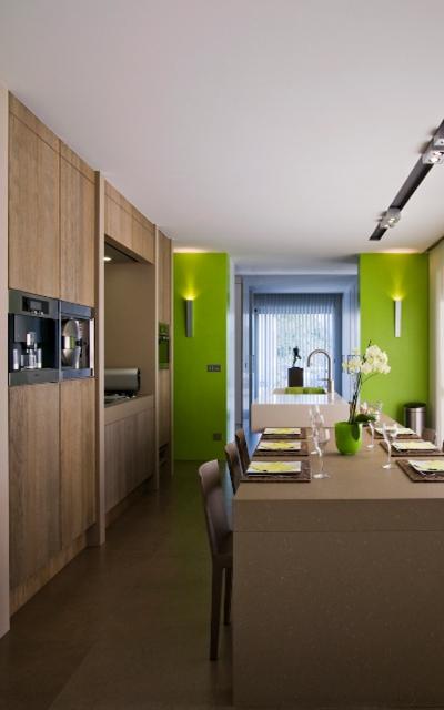Keuken - aanzicht volledig naar strijkgang