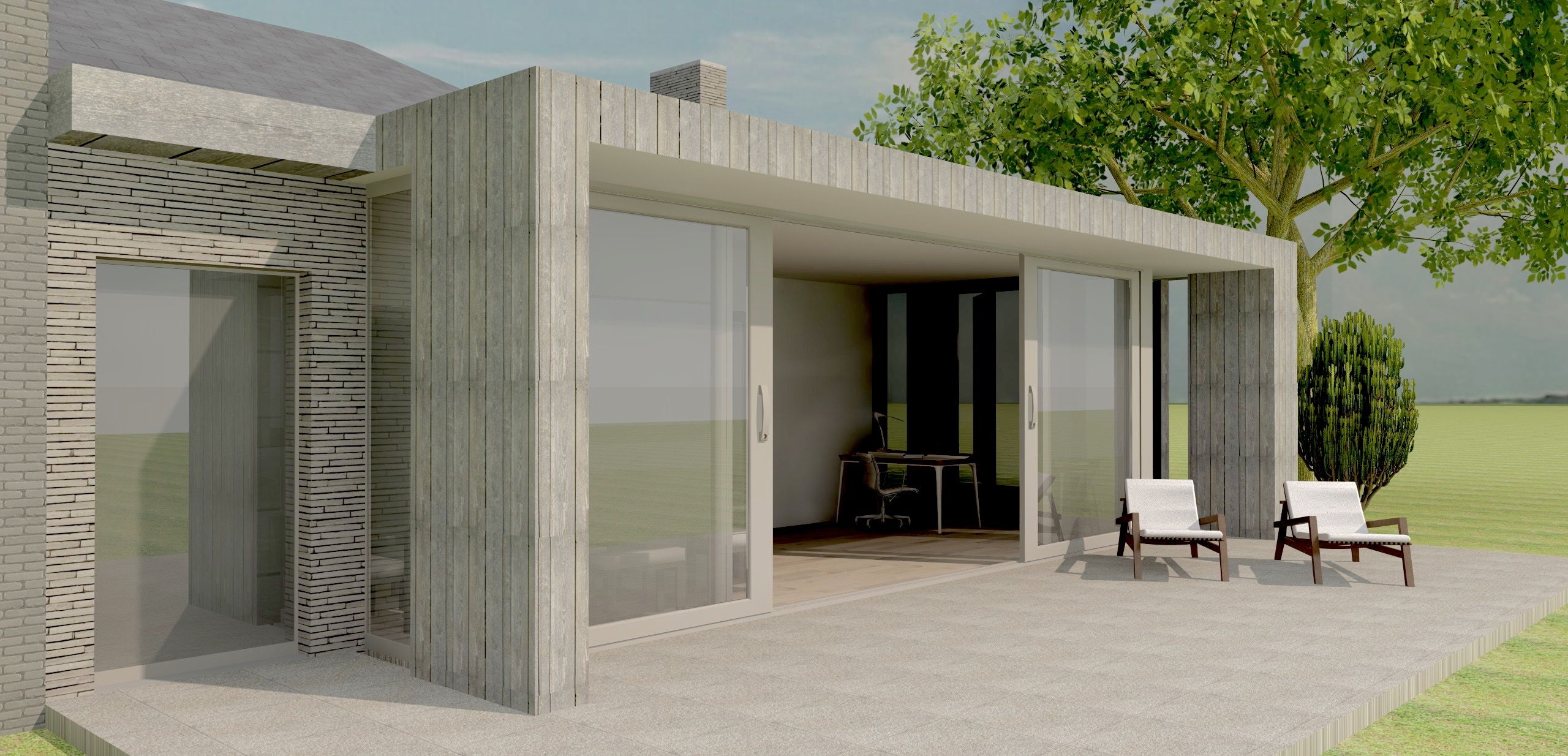 Lovendegem renovatie bungalow- veranda - Archion by Geert Van Rysseghem