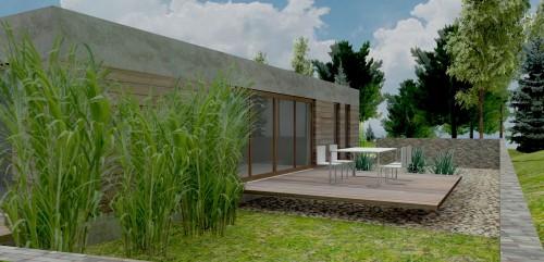 Rixensart - Ontwerp villa op heuvel 03 Zijgevel links