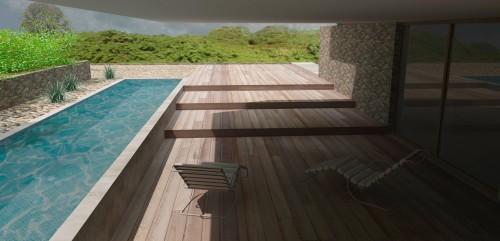 Rixensart - Ontwerp villa op heuvel 08 Terras aan spa en fitness